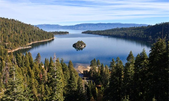 Lake Tahoe, the largest alpine lake in North America, was one of the primary validation sites for NASA's global lake temperature study.