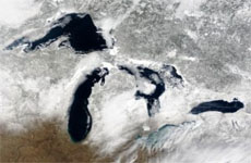 Great Lakes ice disappearing rapidly