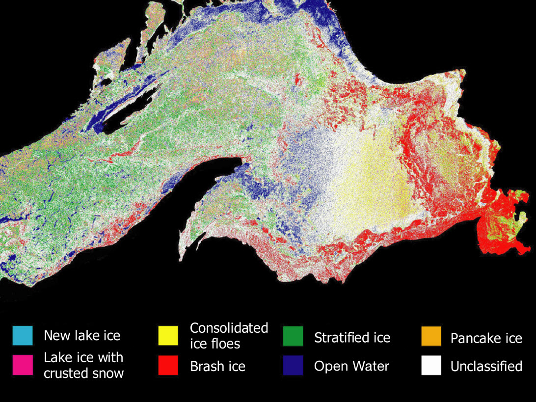 Great Lakes Ice Map