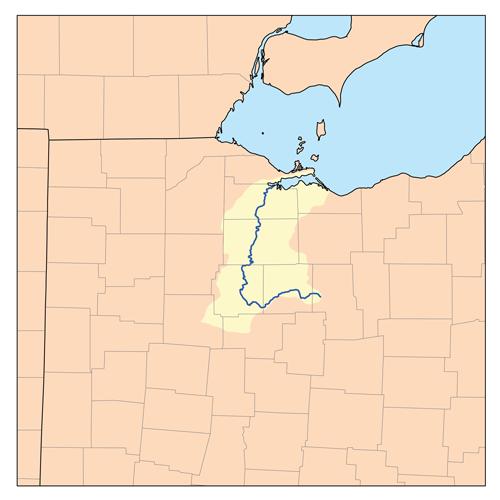 Sandusky river map
