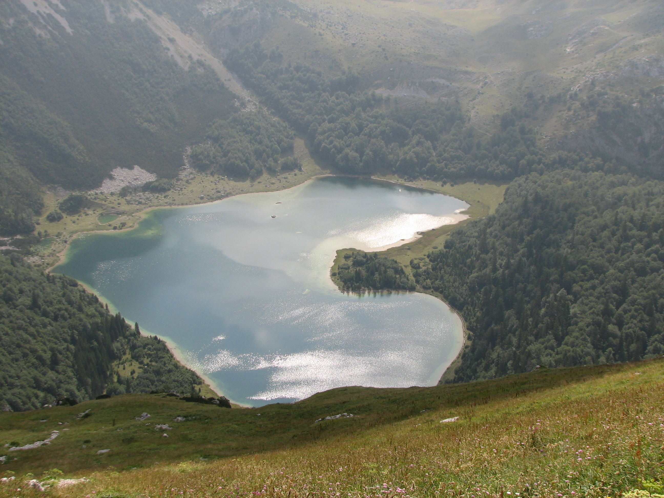 heart lakes Trnovacko Lake