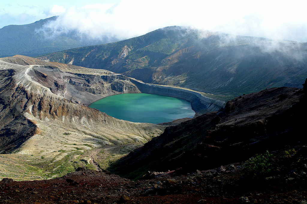 Okama Crater Lake Known To Change Color Lake Scientist