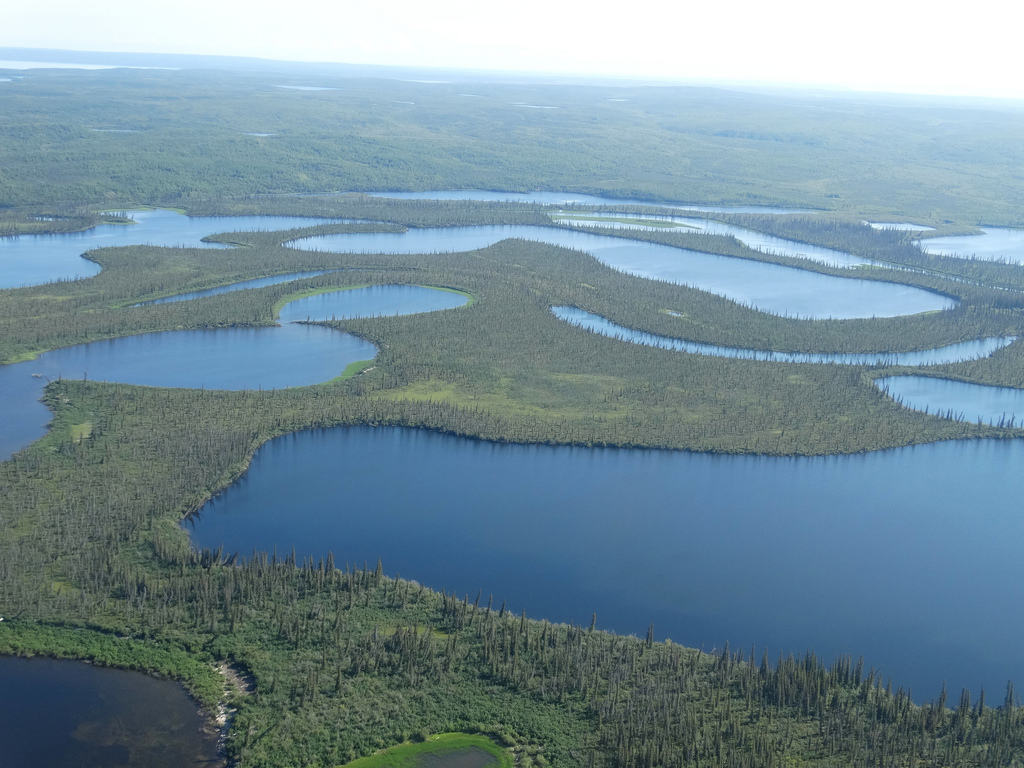 gas exploration impacting lakes in mackenzie delta region