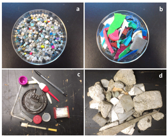 microplastics pollution plastic debris samples