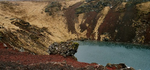 Kerid Crater Lake. (Credit: Wikipedia User Reykholt via Creative Commons 3.0)