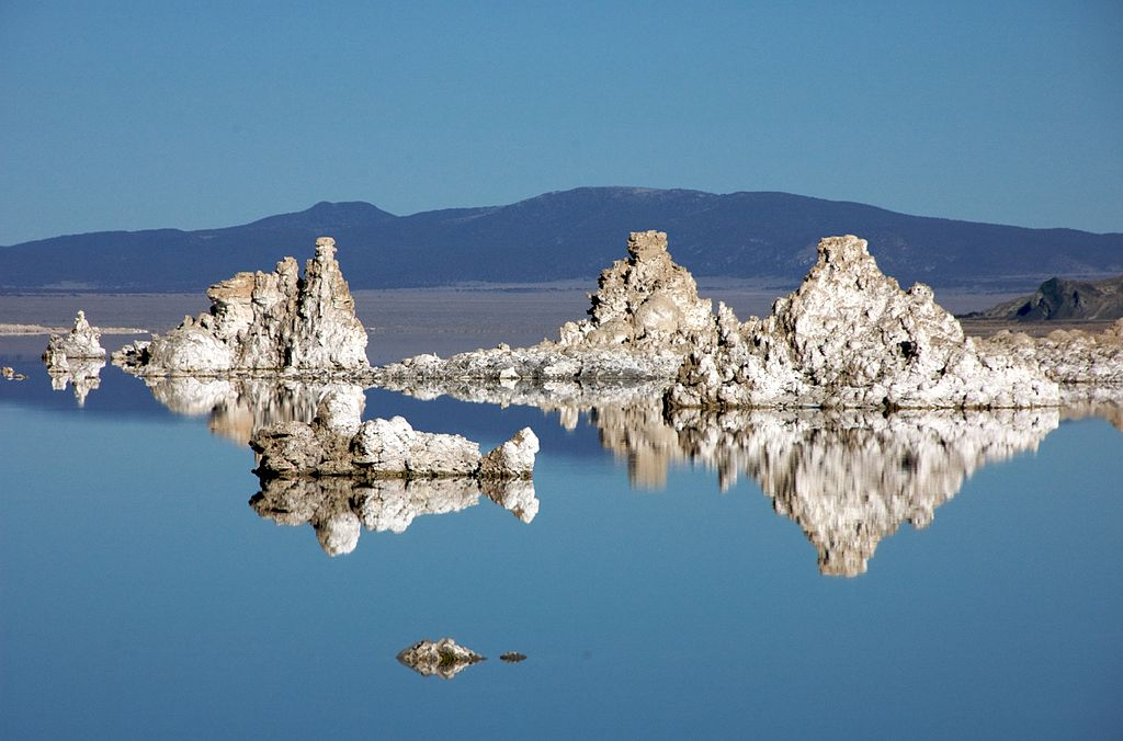 Mono lake tufa white