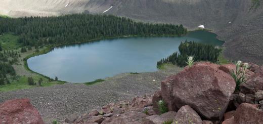 alpine glacial lake