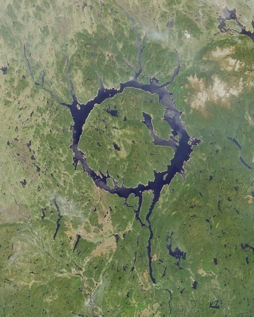 Manicouagan Reservoir. (Credit: Public Domain)